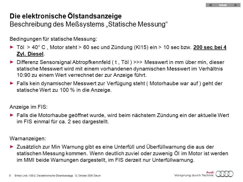 6Erhard Lindl, I/GS-2, Die elektronische Ölstandsanzeige, 12.