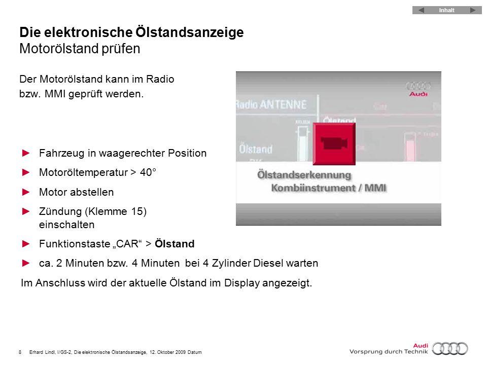 9Erhard Lindl, I/GS-2, Die elektronische Ölstandsanzeige, 12.