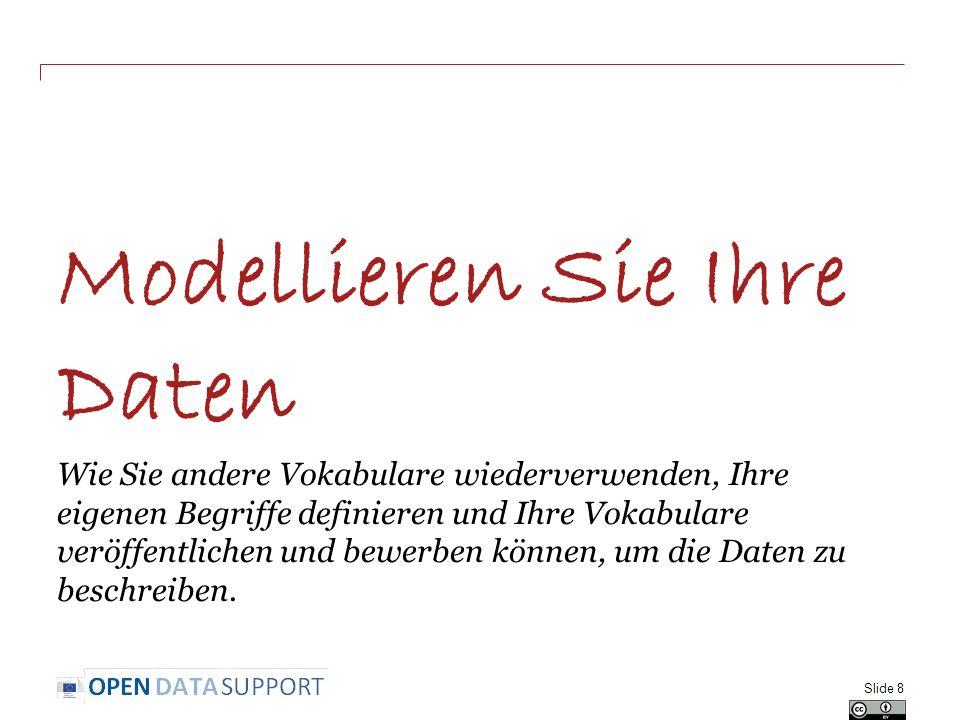 Verwandte Projekte und Initiativen Joinup, http://joinup.ec.europa.euhttp://joinup.ec.europa.eu Linked Open Vocabularies (LOV), http://lov.okfn.org/http://lov.okfn.org/ EC ISA, e-Government Core Vocabularies, https://joinup.ec.europa.eu/community/core_vocabularies/home https://joinup.ec.europa.eu/community/core_vocabularies/home W3C Schools – Learn RDF http://www.w3schools.com/rdf/default.asp http://www.w3schools.com/rdf/default.asp EUCLID, http://euclid-project.eu/http://euclid-project.eu/ XML Summer School http://xmlsummerschool.com/http://xmlsummerschool.com/ Slide 29