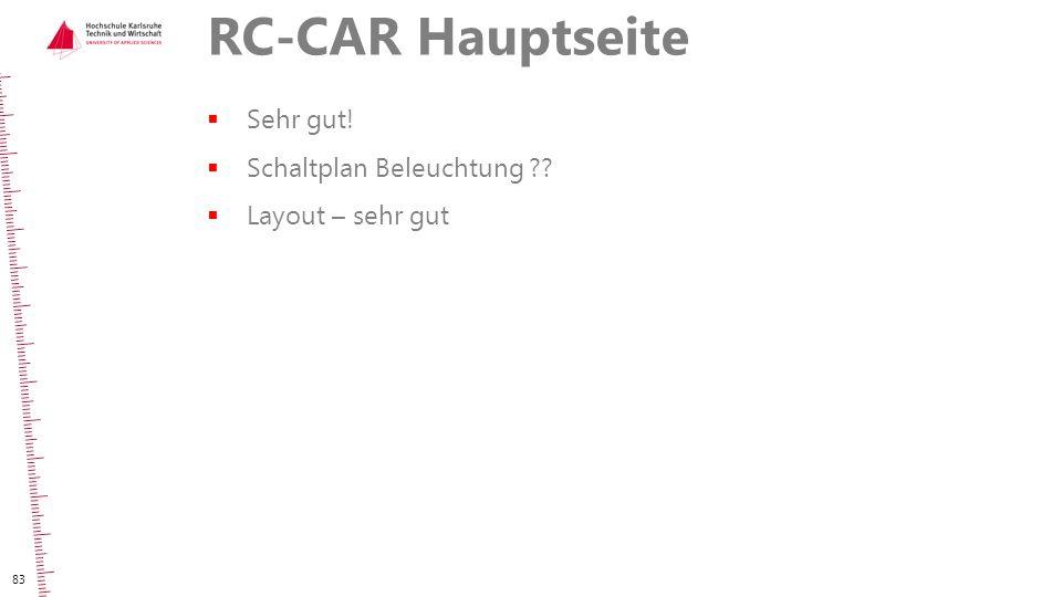 RC-CAR Hauptseite  Sehr gut!  Schaltplan Beleuchtung ??  Layout – sehr gut 83