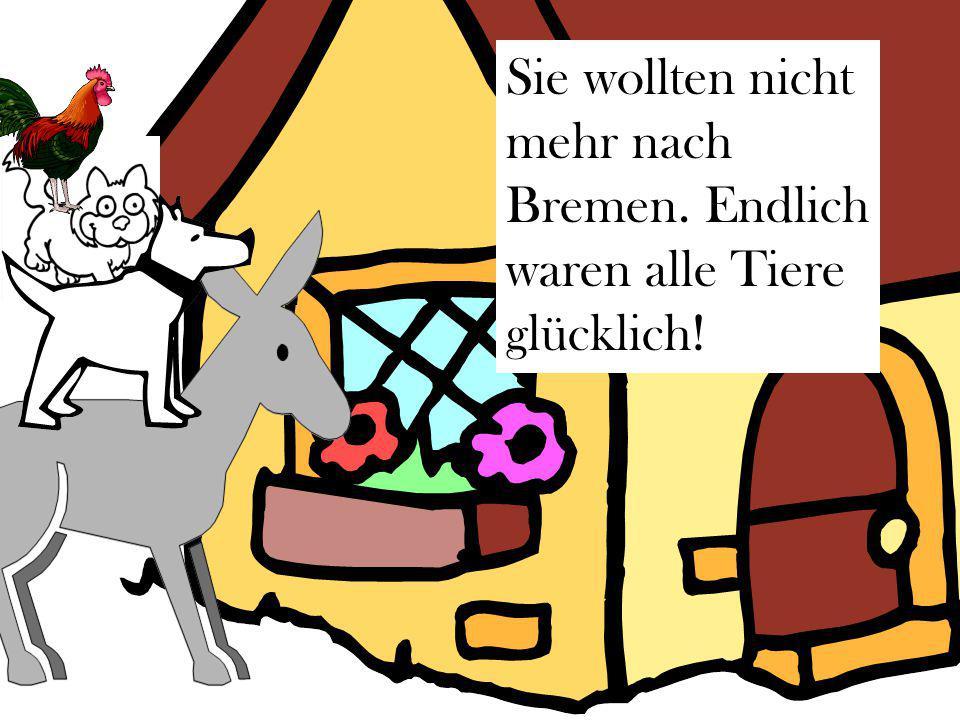 Sie wollten nicht mehr nach Bremen. Endlich waren alle Tiere glücklich!