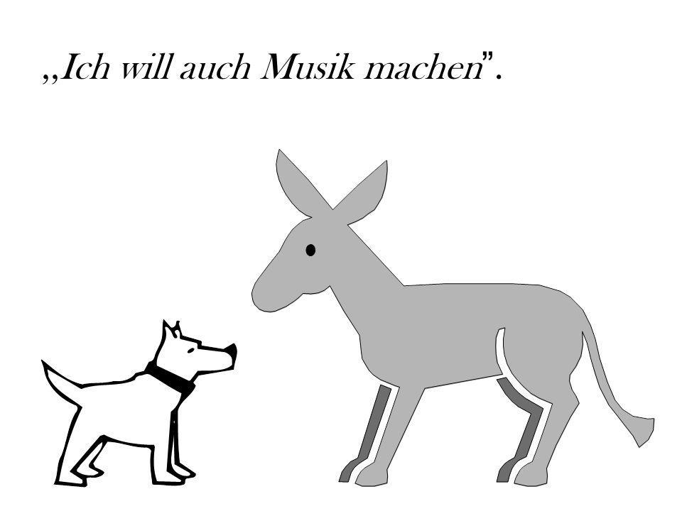 Der Esel, der Hund und die Katze luden den Hahn ein, auch mit nach Bremen zu gehen… BREMEN