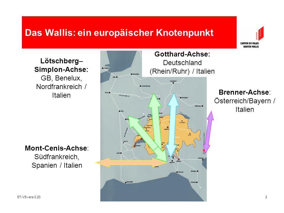 ST-VS vers 0.202 Mont-Cenis-Achse: Südfrankreich, Spanien / Italien Brenner-Achse: Österreich/Bayern / Italien Lötschberg– Simplon-Achse: GB, Benelux,