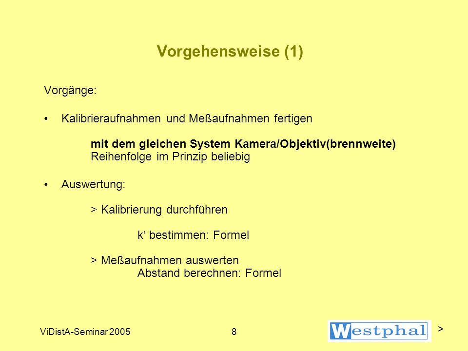 ViDistA-Seminar 20059 Kalibriervorgang (1) >