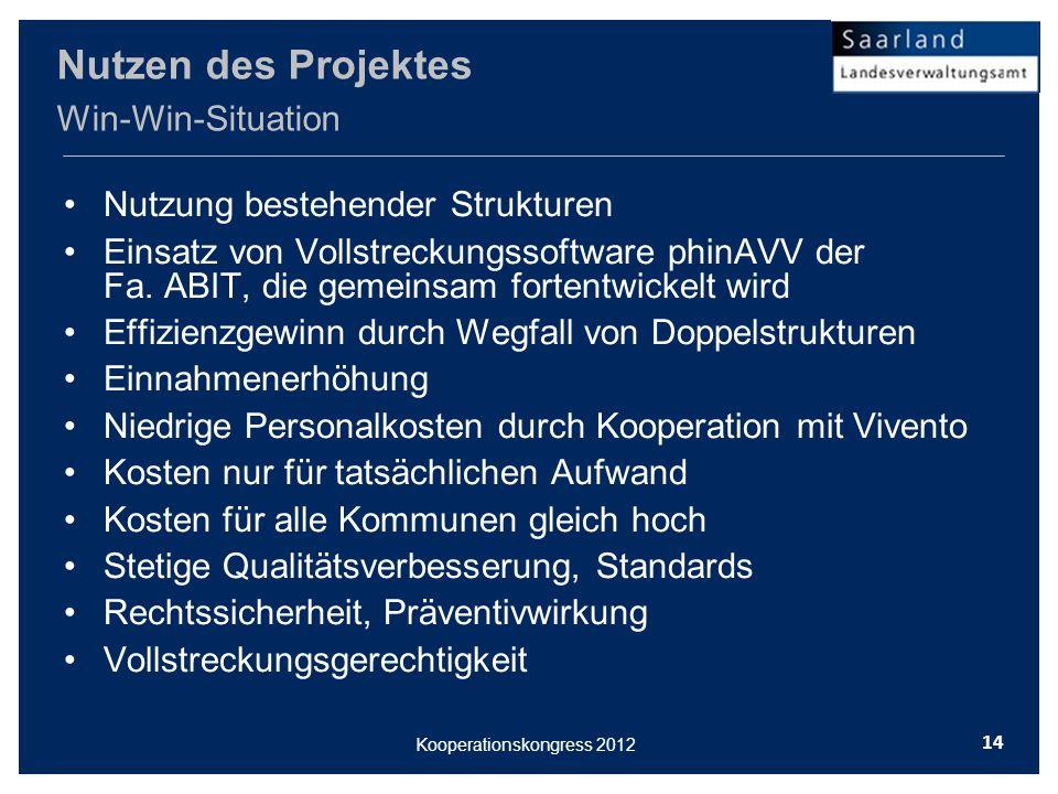 Nutzung bestehender Strukturen Einsatz von Vollstreckungssoftware phinAVV der Fa.