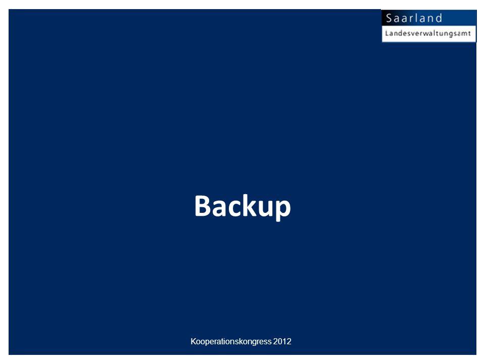 Backup Kooperationskongress 2012
