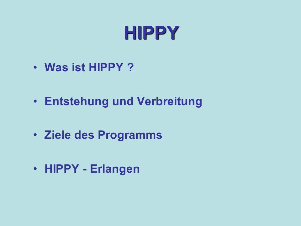 HIPPY Was ist HIPPY Entstehung und Verbreitung Ziele des Programms HIPPY - Erlangen