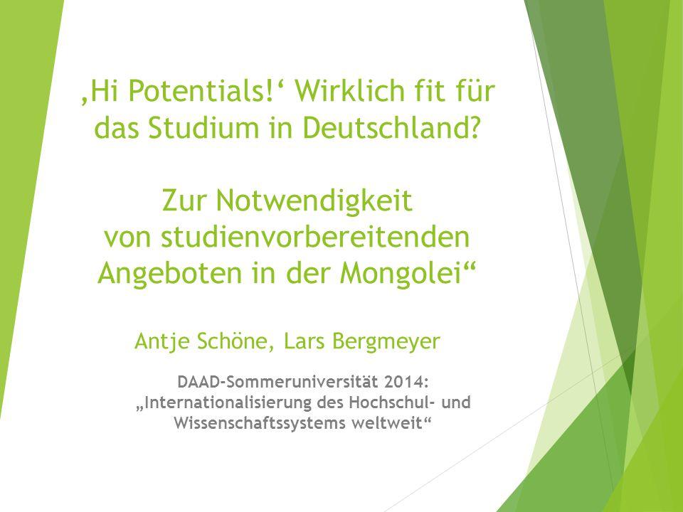 'Hi Potentials!' Wirklich fit für das Studium in Deutschland.