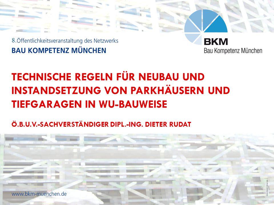 Grundlagen aus den technischen Regelwerken  Abdichtungsnorm DIN 18.195 gilt ausdrücklich nicht für WU-Bauwerke  Kriterium für die unterschiedlichen Beanspruchungsklassen: Darcy´scher Durchlässigkeitsbeiwert 10-4 m/s