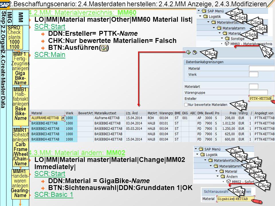 2.Beschaffungscenario: 2.4.Material herstellen: 2.4.1.MM Material anlegen Übung 2 2.4.1.4.|MMR1 Rohstoff: Wheel-Name Nur Unterschiede zu früheren geze