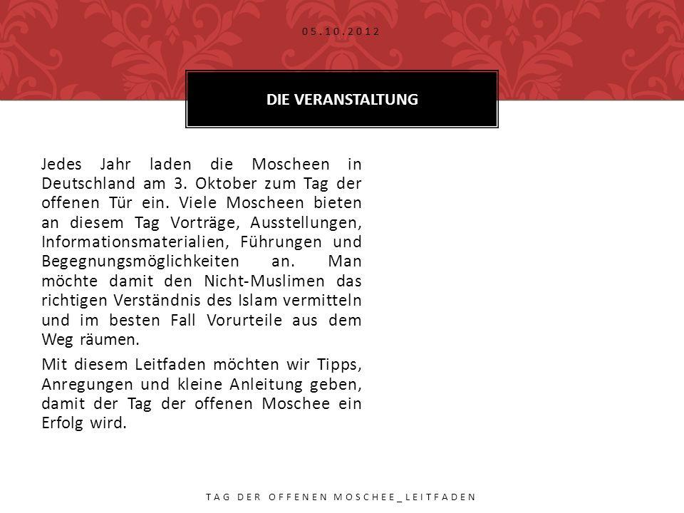 Jedes Jahr laden die Moscheen in Deutschland am 3.
