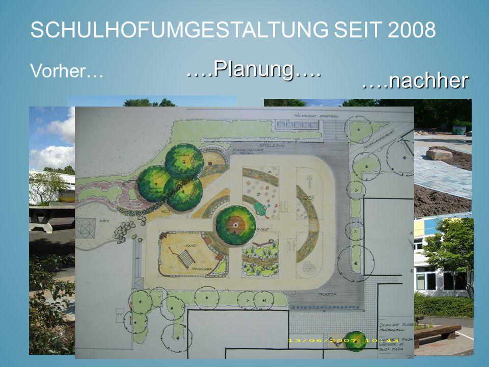 Vorher… SCHULHOFUMGESTALTUNG SEIT 2008 ….nachher ….Planung….