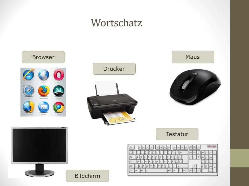 Wortschatz Browser Drucker Maus Testatur Bildchirm