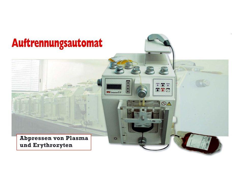 Faustregel zur Dosierung von Plasma: 1 ml Plasma pro kg Körpergewicht erhöht den Faktorengehalt um ca.