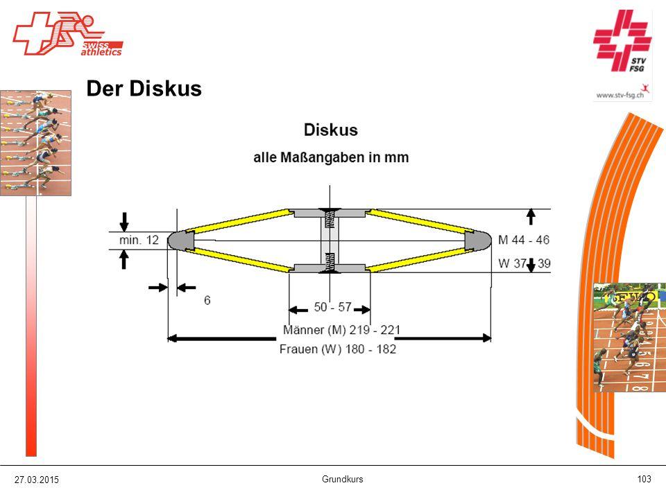 27.03.2015 Grundkurs 103 Der Diskus