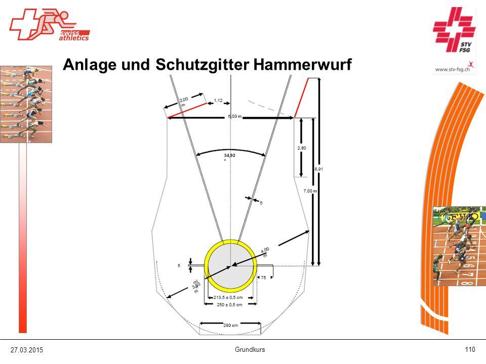 27.03.2015 Grundkurs 110 Anlage und Schutzgitter Hammerwurf