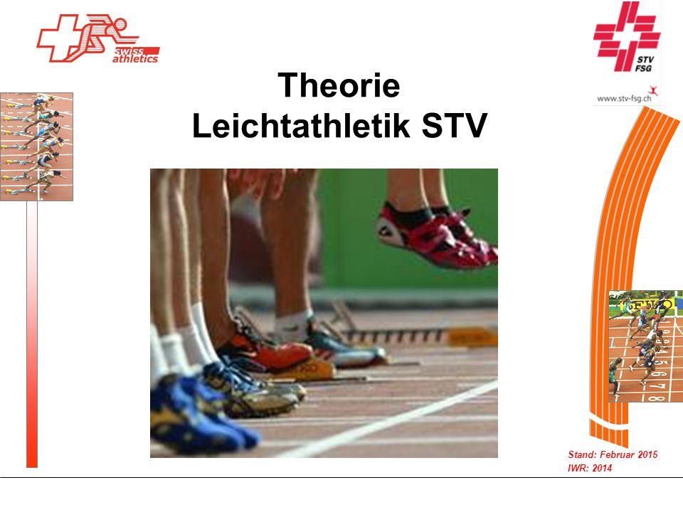 Stand: Februar 2015 IWR: 2014 Theorie Leichtathletik STV