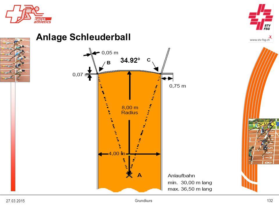 27.03.2015 Grundkurs 132 Anlage Schleuderball 34.92°