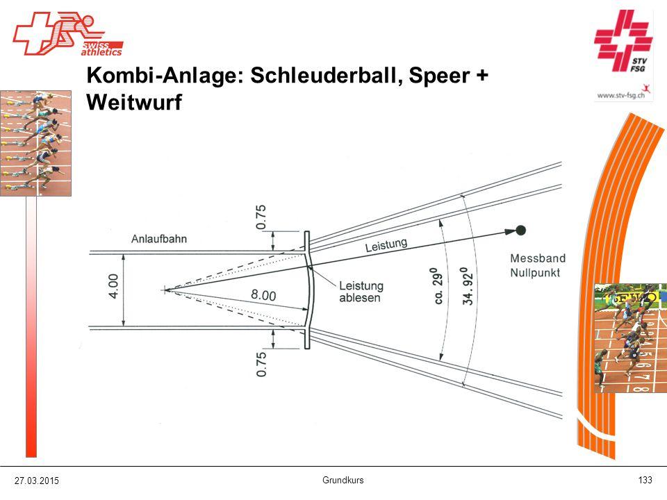 27.03.2015 Grundkurs 133 Kombi-Anlage: Schleuderball, Speer + Weitwurf