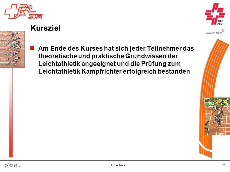27.03.2015 Grundkurs 73 Anlage Weit - / Dreisprung