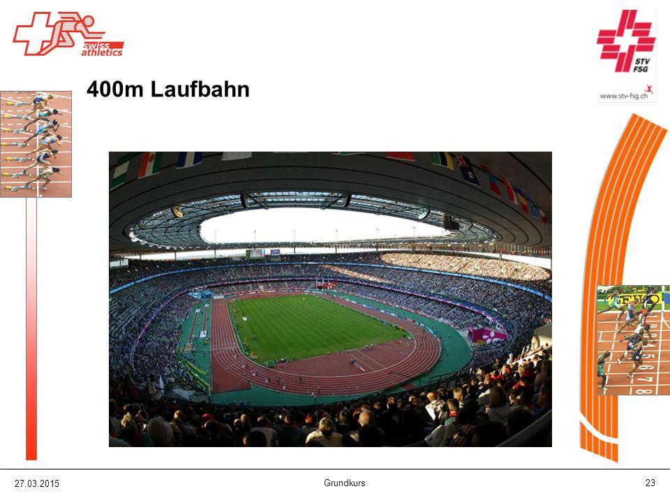 27.03.2015 Grundkurs 23 400m Laufbahn