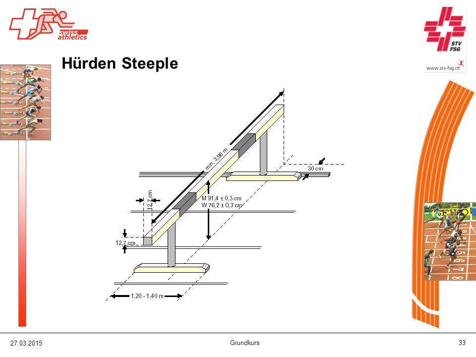 27.03.2015 Grundkurs 33 Hürden Steeple