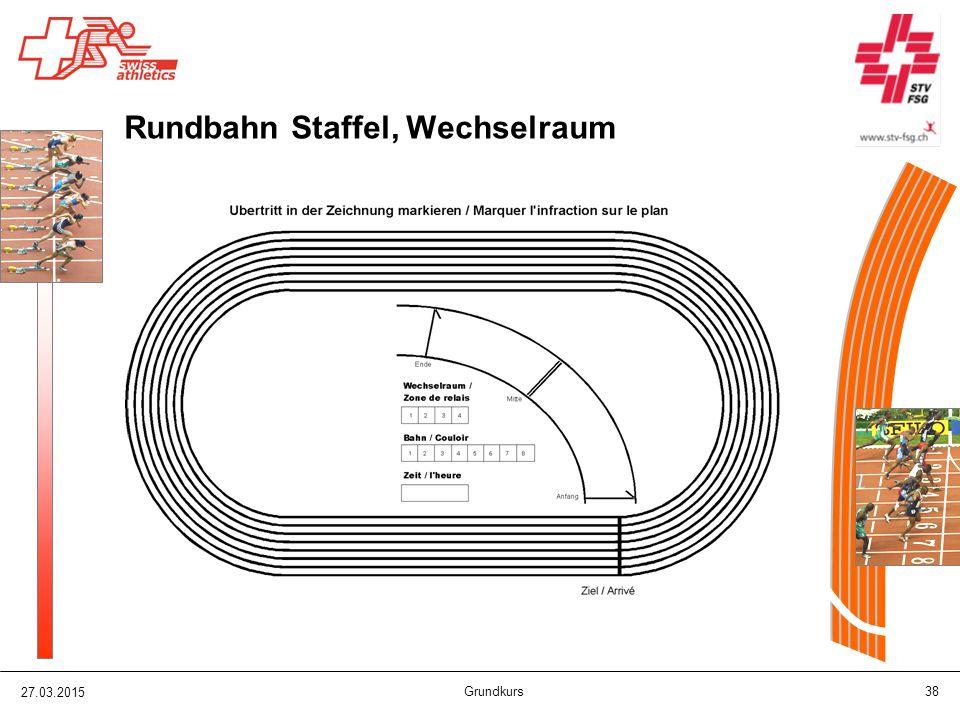 27.03.2015 Grundkurs 38 Rundbahn Staffel, Wechselraum