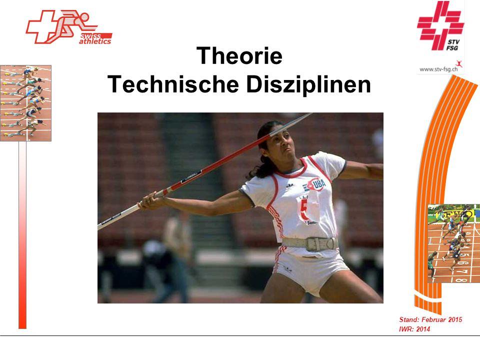 Stand: Februar 2015 IWR: 2014 Theorie Technische Disziplinen