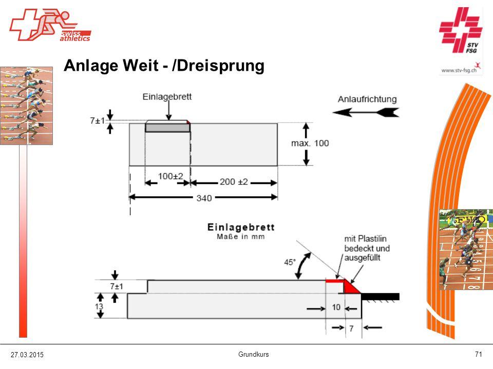 27.03.2015 Grundkurs 71 Anlage Weit - /Dreisprung