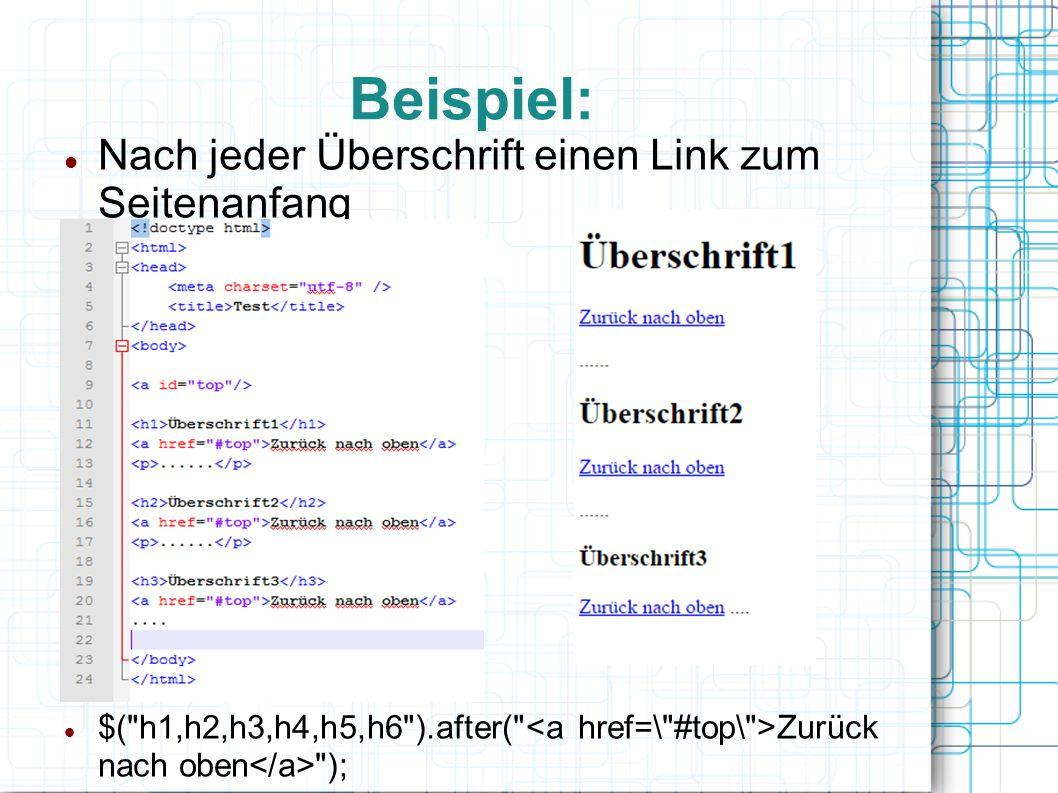 Die bekanntesten Bibliotheken JQuery Dojo Toolkit AngularJS Yahoo User Interface Librar Moo.fx Script.aculo.us Und viele mehr Seit AJAX gibt es sie wie Sand am Meer