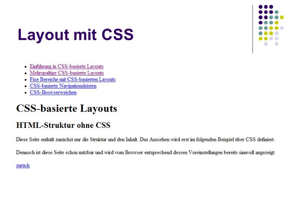 Layout mit CSS