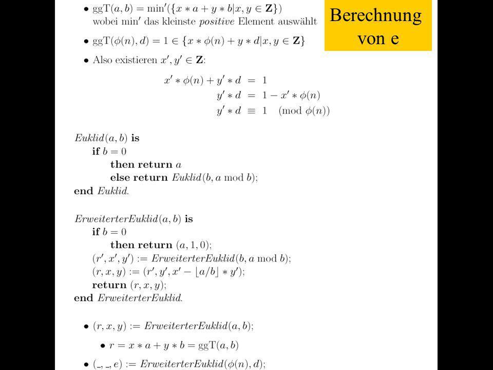 Verteilte und Parallele DBMS Teil VI83 Berechnung von e