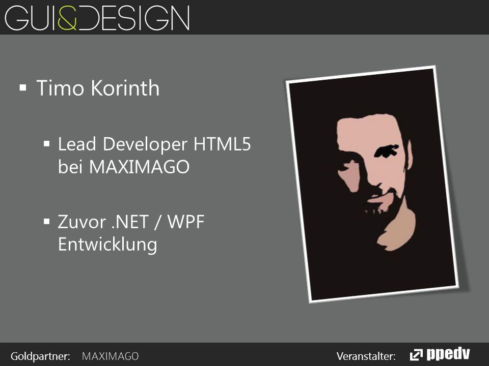 Goldpartner: Veranstalter:  Warum überhaupt HTML5 und AngularJS.