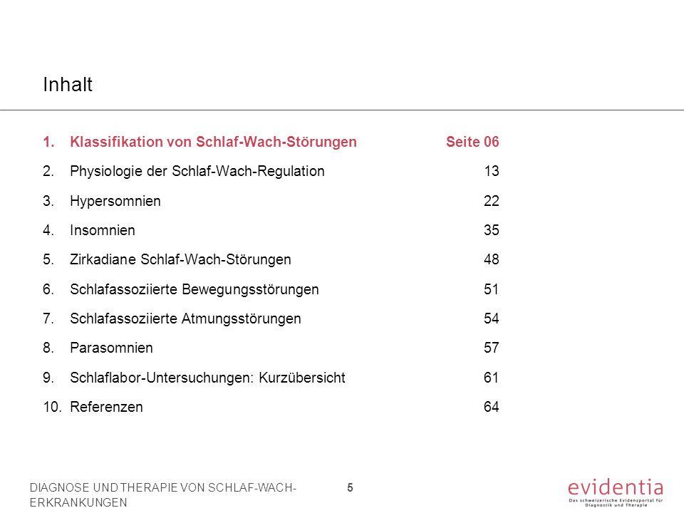 Klassifikation von Schlaf-Wach-Störungen 1.