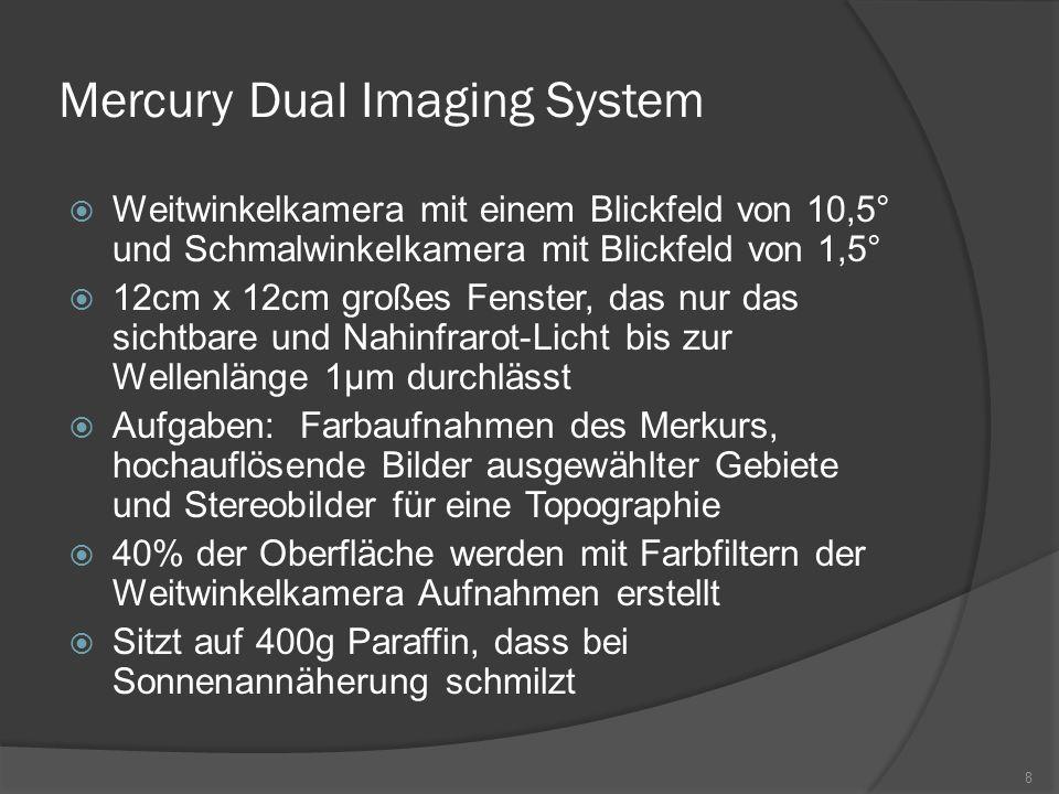 Mercury Dual Imaging System  Weitwinkelkamera mit einem Blickfeld von 10,5° und Schmalwinkelkamera mit Blickfeld von 1,5°  12cm x 12cm großes Fenste