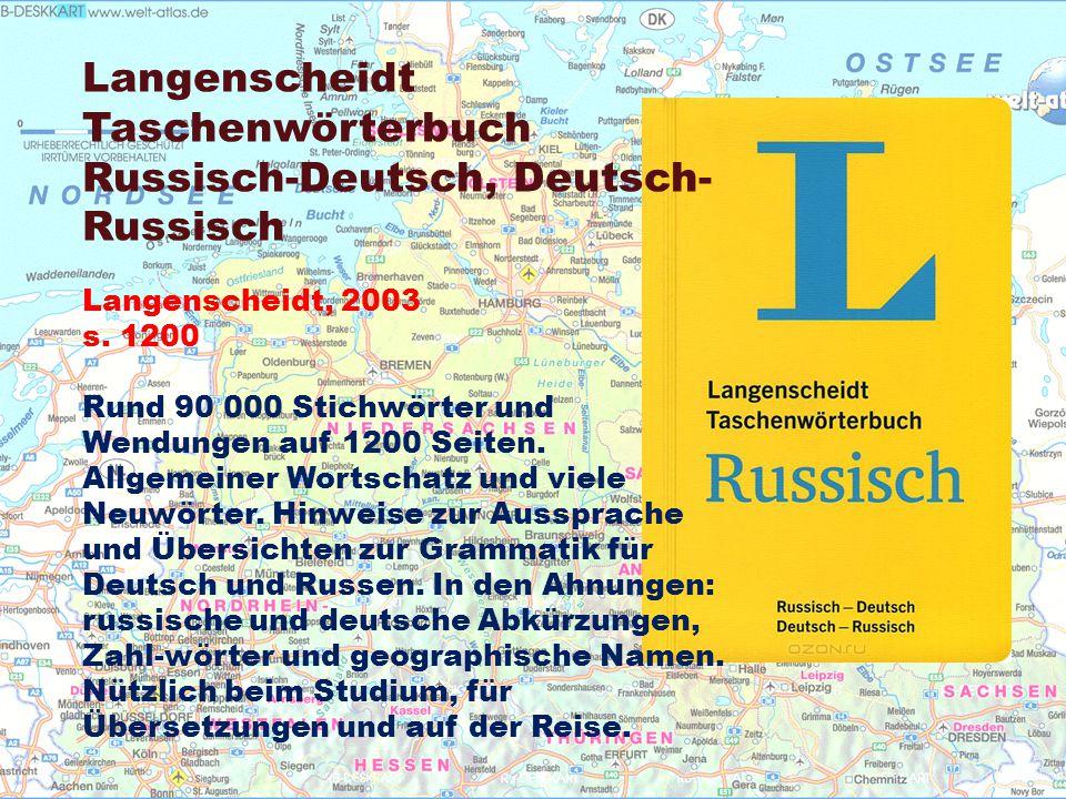 Langenscheidt Taschenwörterbuch Russisch-Deutsch, Deutsch- Russisch Langenscheidt, 2003 s.