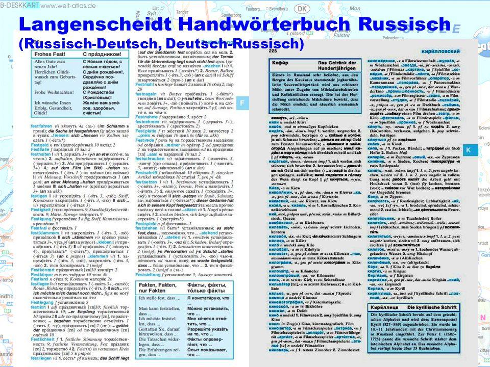 Langenscheidt Handwörterbuch Russisch (Russisch-Deutsch, Deutsch-Russisch)
