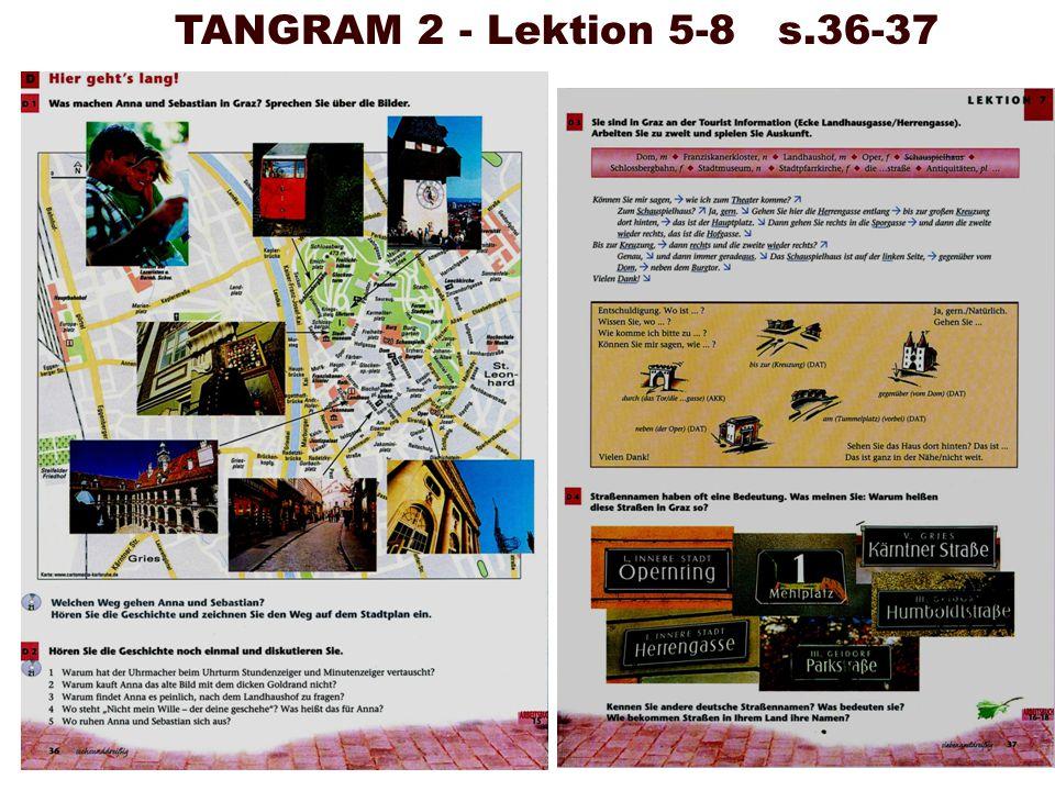 TANGRAM 2 - Lektion 5-8 s.36-37