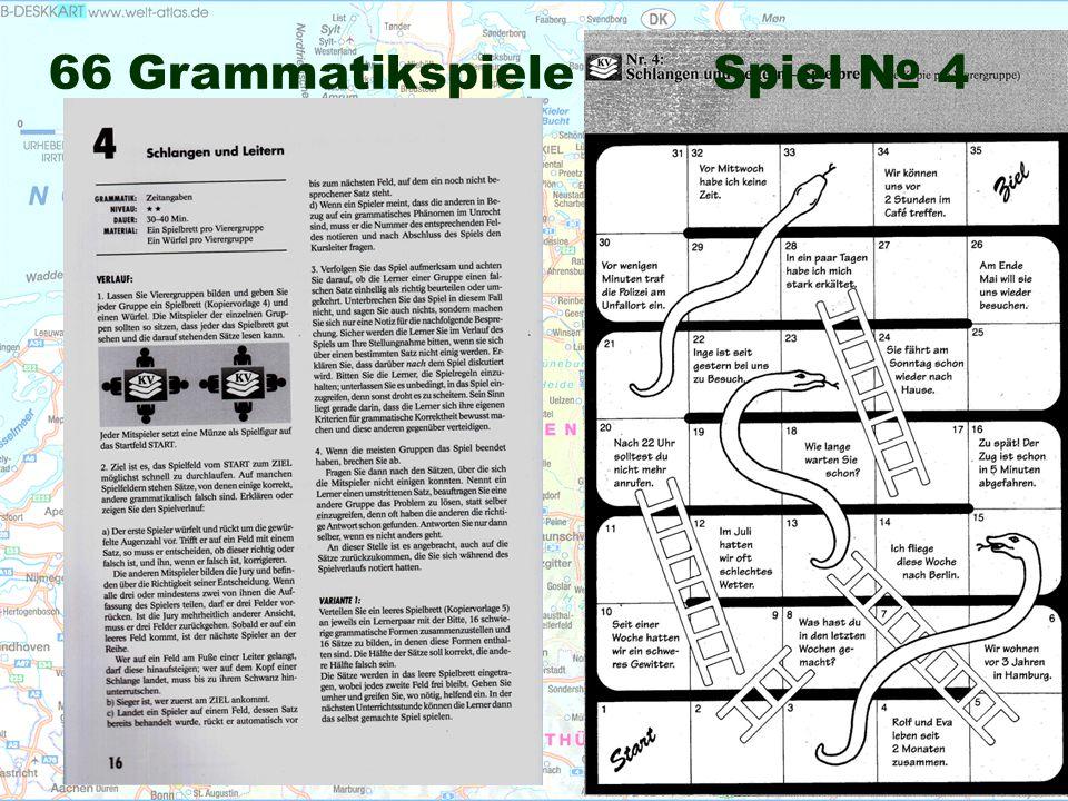 66 Grammatikspiele Spiel № 4