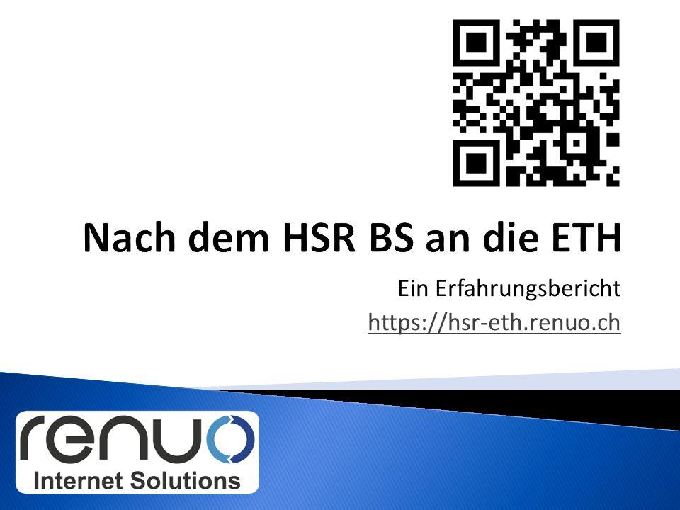  HSR Bachelor: HS09 - FS12  ETH Master: HS12 - jetzt  FS11 – jetzt ◦ Gründung Renuo GmbH ◦ 4 Mitarbeiter ◦ Teilzeit Arbeit https://hsr-eth.renuo.ch2 Lukas Elmer