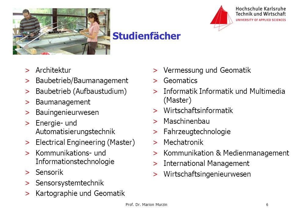 Prof. Dr. Marion Murzin Studienfächer >Architektur >Baubetrieb/Baumanagement >Baubetrieb (Aufbaustudium) >Baumanagement >Bauingenieurwesen >Energie- u