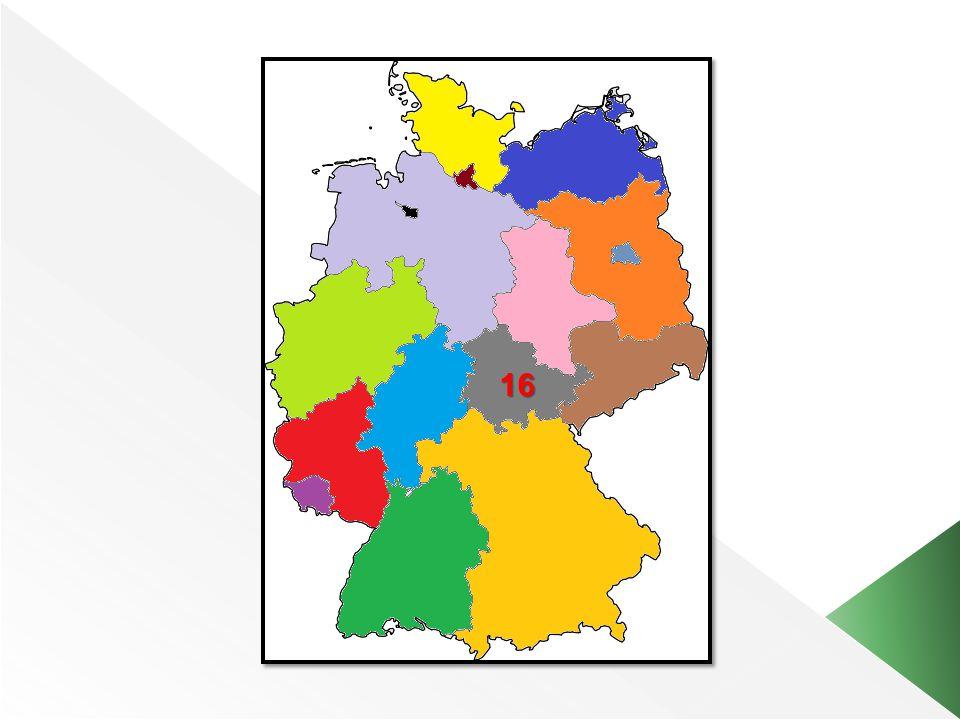 Deutschland hat Bundesländer. 16 Wie zum Beispiel... Berlin