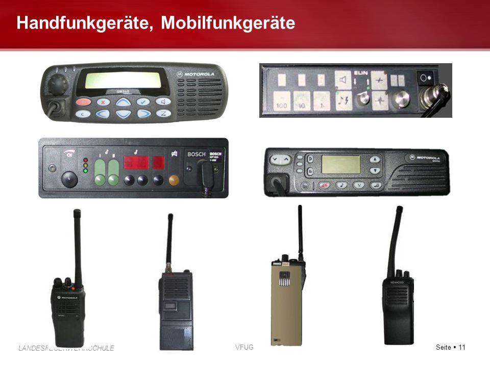 Seite  11 LANDESFEUERWEHRSCHULE VFUG Handfunkgeräte, Mobilfunkgeräte