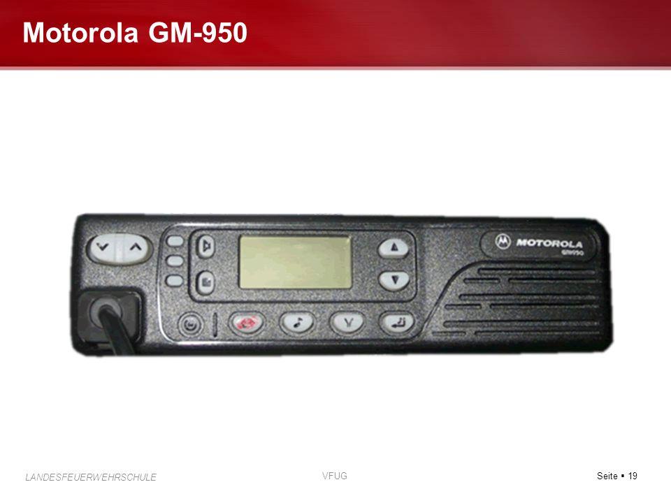 Seite  19 LANDESFEUERWEHRSCHULE VFUG Motorola GM-950