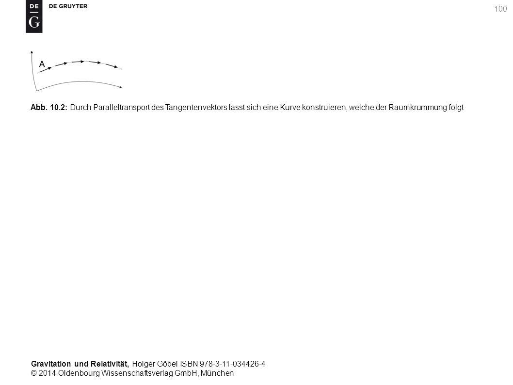 Gravitation und Relativität, Holger Göbel ISBN 978-3-11-034426-4 © 2014 Oldenbourg Wissenschaftsverlag GmbH, München 100 Abb. 10.2: Durch Paralleltran