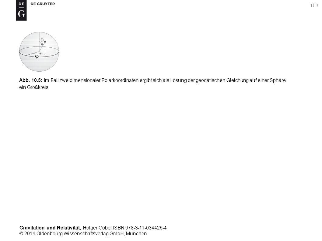 Gravitation und Relativität, Holger Göbel ISBN 978-3-11-034426-4 © 2014 Oldenbourg Wissenschaftsverlag GmbH, München 103 Abb. 10.5: Im Fall zweidimens