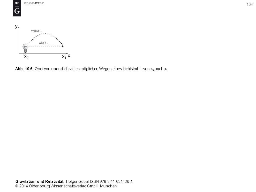 Gravitation und Relativität, Holger Göbel ISBN 978-3-11-034426-4 © 2014 Oldenbourg Wissenschaftsverlag GmbH, München 104 Abb. 10.6: Zwei von unendlich