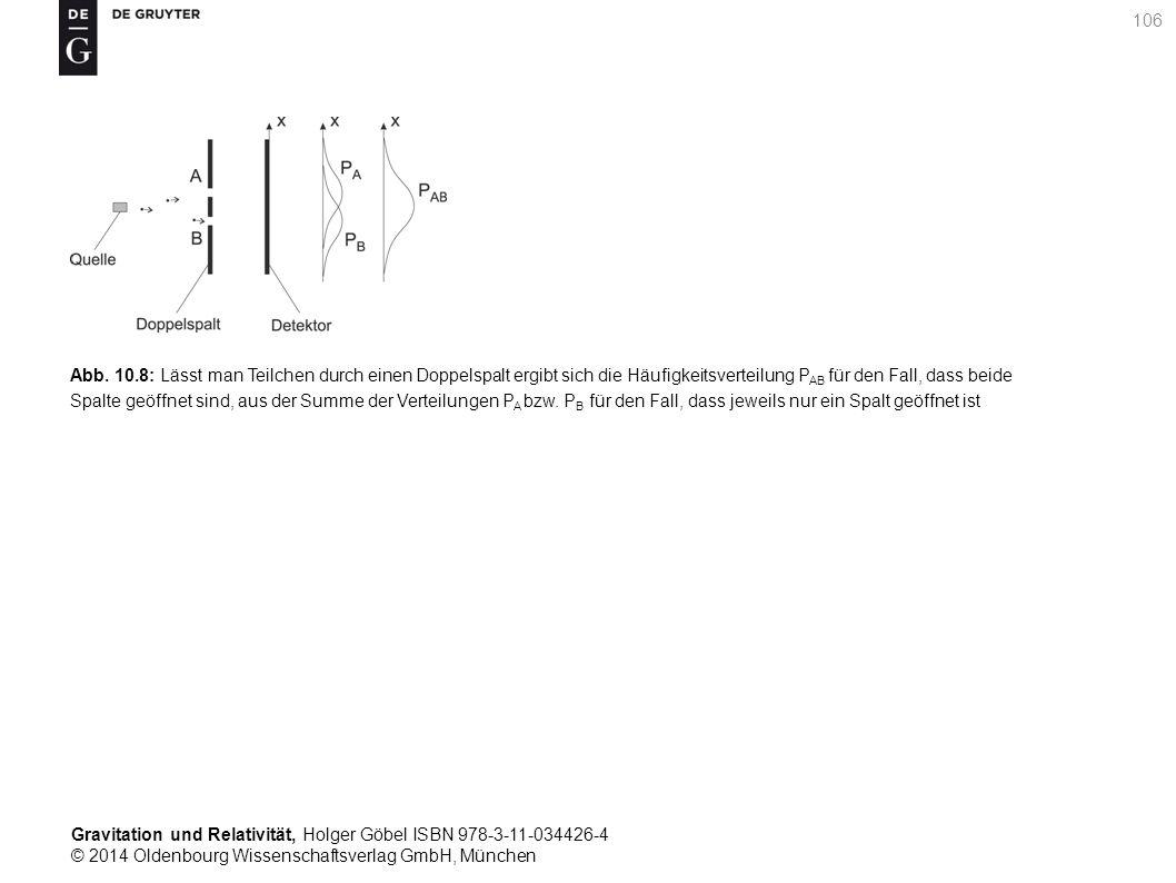 Gravitation und Relativität, Holger Göbel ISBN 978-3-11-034426-4 © 2014 Oldenbourg Wissenschaftsverlag GmbH, München 106 Abb. 10.8: Lässt man Teilchen