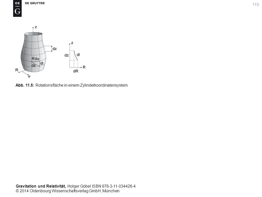 Gravitation und Relativität, Holger Göbel ISBN 978-3-11-034426-4 © 2014 Oldenbourg Wissenschaftsverlag GmbH, München 115 Abb. 11.5: Rotationsfläche in