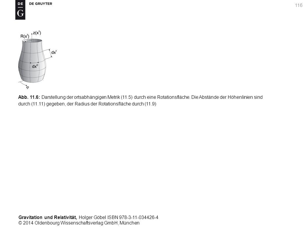 Gravitation und Relativität, Holger Göbel ISBN 978-3-11-034426-4 © 2014 Oldenbourg Wissenschaftsverlag GmbH, München 116 Abb. 11.6: Darstellung der or